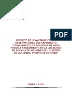 Reporte de Levantamiento de Observaciones Bocana de Pichones