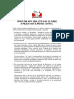 Pronunciamiento de la Defensoría del Pueblo en relación con el proceso electoral.