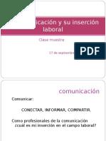 La Comunicación y Su Inserción laboral