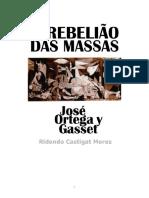 Ortega a Rebelião Das Massas