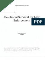 Emotional Survival for Law Enforcement_Ken Johnson_June 2015