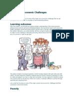 the socioeconimic challenges
