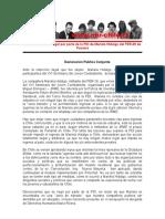 Declaración Pública Conjunta ante la retención ilegal de Mariela Hidalgo militante del FER-29 de Panamá