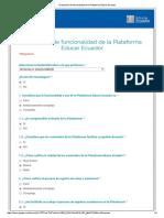 Evaluación de Funcionalidad de La Plataforma Educar Ecuador 2
