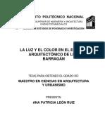 ▪⁞ Ana Patricia León Ruiz - LA LUZ Y EL COLOR EN EL ESPACIO ARQUITECTONICO (Tesis) ⁞▪AF