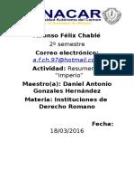 Alfonso Félix Chabl1 Tarea Derecho Romano