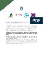 Acuerdo Institucional Esclavitud Infantil (Cabildo de Tenerife)