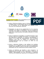 Acuerdo Institucional Sahara Occidental y Derechos Humanos (Cabildo Tfe, 28.03.16)