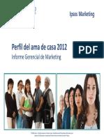 IPSOS Perfil Del Ama de Casa 2012 Detergentes (1) (1)