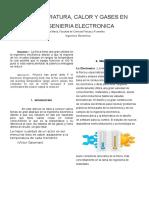 TEMPERATURA, CALOR Y GASES EN  INGENIERIA ELECTRONICA