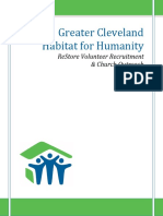Greater Cleveland Habitat for Humanity ReStore Volunteer Recruitment and Church Outreach Campaign