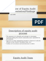 review of equity audit presentation-findings  1