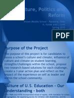culture politics and reform project