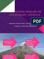 Prevenciones Después de Una Erupción Volcánica Katy y Fernanda