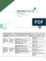 Planificacion Anual Ciencias Naturales 4basico 2016
