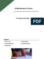 Plant Maintenance Basics Course
