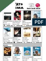 Novetats Cinema Biblioteca de Banyoles St Jordi 2010