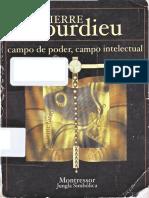 PIERRE BOURDIEU Campo de Poder Campo Intelectual