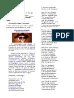 Atividade-poesia Matuta e Literatura de Cordel