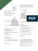 Simple Curve Problems
