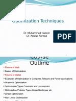 optimization techiniques