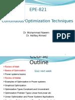 continuous optimization techinique