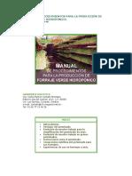 Manual de Forraje Verde Hidroponico