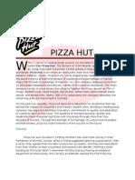 Final Report Pizzahut