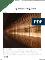 Beware the Big Errors of 'Big Data' _ NassemTaleb_Wired
