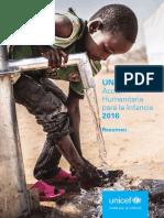 UNICEF Accion HUmanitaria Para La Infancia_2016_Overview_SP