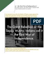 The Revolt of 1857 m