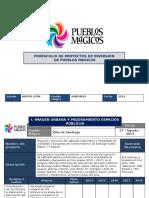 Portafolio de imversión del programa de Pueblos Mágicos para el Municipio de Santiago, Nuevo León