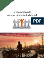 Fundamentos Comportamiento Individual