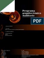 Programa Arquitectónico Teatro