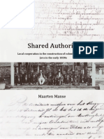 Thesis Maarten Manse, 'Shared Authority, Local Cooperation in the Construction of Colonial Governance on Java in the Early 1830s'
