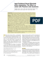 The Use of Prolonged Peripheral Neural Blockade