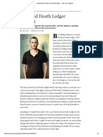 analyzing the double life of heath ledger -- new york magazine
