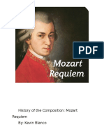 history of the composition mozart requiem