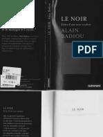 Alain Badiou Le Noir