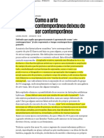 Como a Arte Contemporânea Deixou de Ser Contemporânea - PÚBLICO