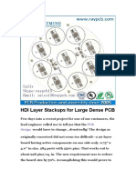 HDI Layer Stackups for Large Dense PCB