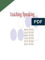 Teaching Speaking