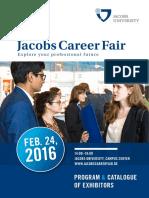 FINAL Jacobs University Career Fair Catalogue 2016