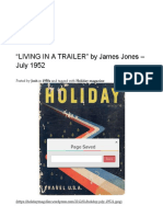"""""""Living in a Trailer"""" by James Jones – July 1952 _ Holiday"""