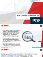 Your Queries on Service Tax