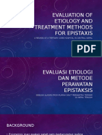 Evaluation of Etiology and Treatment Methods for Epistaxis