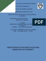 Principios Fundamentales de Derecho Sucesorio