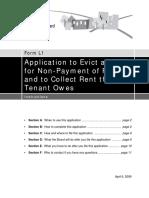 L1 - Instructions. Ontario Landlord Tenant Board.