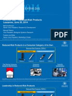 Reduced-Risk Products - Lausanne, 26 June 2014