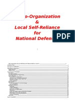 Micro-Organization & Local Self-Reliance for National Defense
